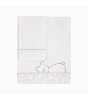 Sábanas cuna 70x140 Dream rosa