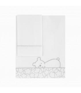 Sábanas cuna 70x140 Dream gris