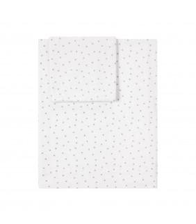 Sábanas cuna 70x140 Mini stella blanco