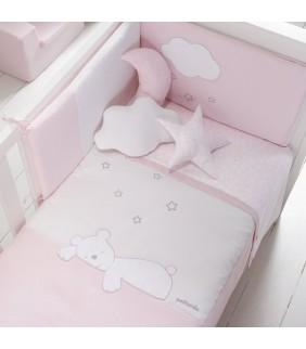 Funda nórdica 60x120 Dream rosa