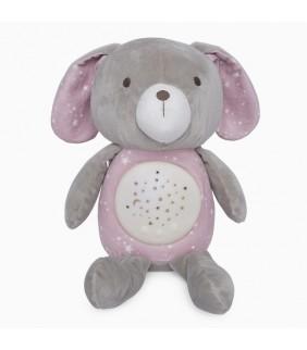 Peluche con proyector Weekend constellations rosa