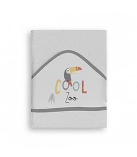 Toalla con capucha Cool Zoo gris