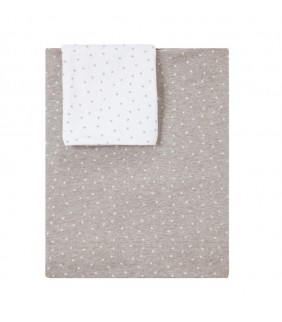 Sábanas cuna 70x140 Mini stella gris