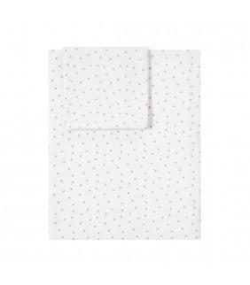 Sábanas cuna 60x120 Mini stella blanco