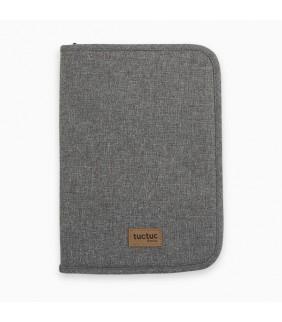 Porta documentos grande Basic gris