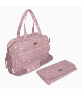 Bolsa maternal + cambiador Weekend constellation rosa
