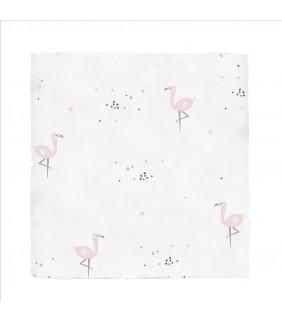 Muselina 120x120 bambú Flamingo