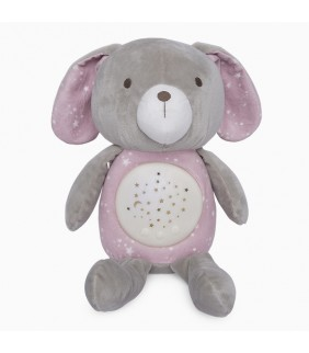 Peluche con proyector Weekend constellations rosa