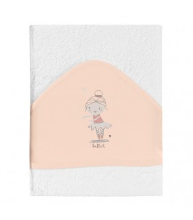 Toalla con capucha Ballet rosa