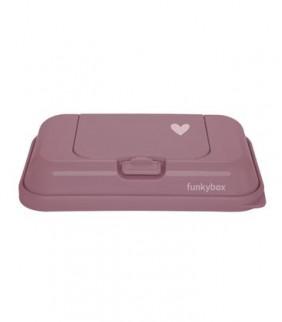 Funky box portátil para toallitas rosa francés