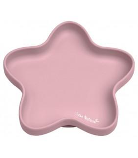 Plato de silicona Star rosa