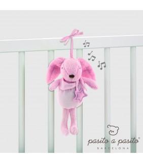 Musical conejito Etoile rosa