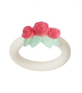 Mordedor anillo rosas