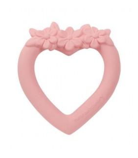 Mordedor corazón rosa