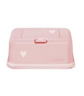 Funky box para toallitas rosa corazones