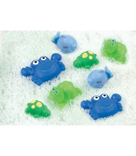 """Juguetes baño """"Amiguitos"""" azul"""