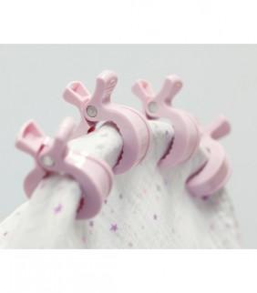 Set 4 clips rosa