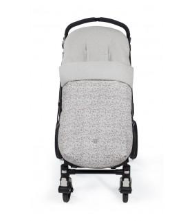Saco silla de paseo Flower mellow gris
