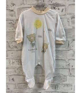 Pijama algodón basic blanco