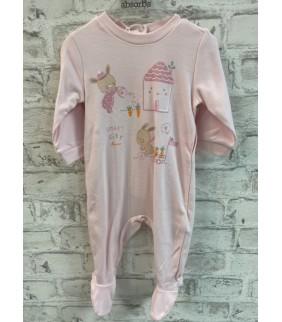 Pijama algodón basic rosa casita