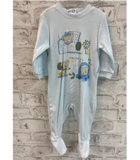 Pijama algodón basic Ecocity azul