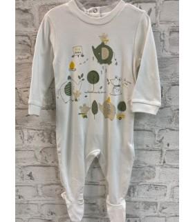 Pijama algodón basic elefantes cru