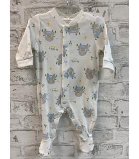 Pijama algodón basic cru coches azul
