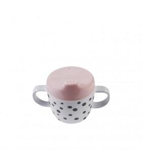 Taza con asas Happy dots rosa