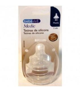 Tetina media Medic silicona