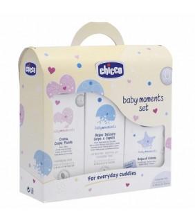 Set de cosmética Baby Moments (Crema, colonia y gel)