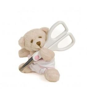 Tijeras oso pañal rosa