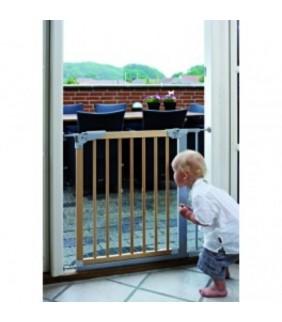 Barrera de seguridad Designer Gate (1 ext) Haya/plata