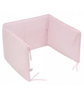 Protector cuna 70/80 liso rosa
