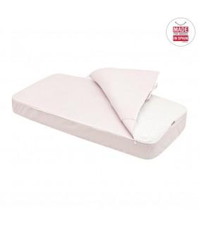 Saco nórdico cuna ajustable 60x120 Star rosa