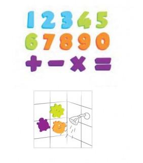 Figuras Eva para el baño Numbers