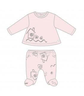 Pijama 2 piezas House pink