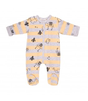 Pijama Elefante gris/Orange