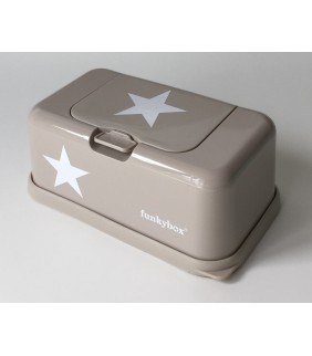 Funky box para toallitas beige estrella