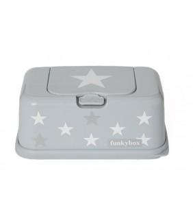 Funky box para toallitas estrella plata