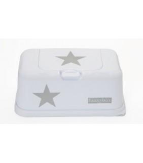 Funky box para toallitas estrella blanco