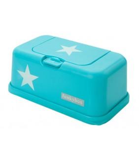 Funky box para toallitas estrella turquesa