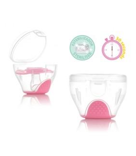 Esterilizador chupetes rosa
