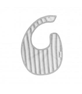 Babero mini velcro Denim gris