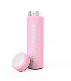 Termo líquidos 420ml Twistshake rosa pastel