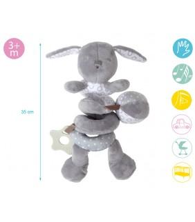 Espiral de juegos conejo gris