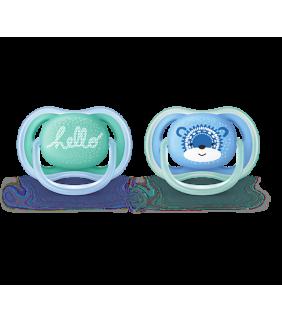 2 Chupetes 6-18 meses Sthr Air azul