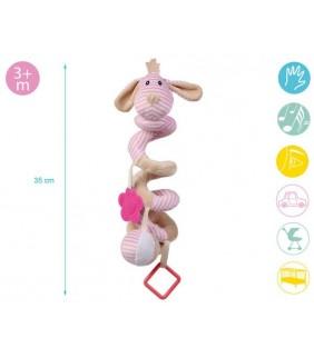 Espiral de juegos Perro rosa